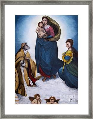 Sistine Madonna Framed Print
