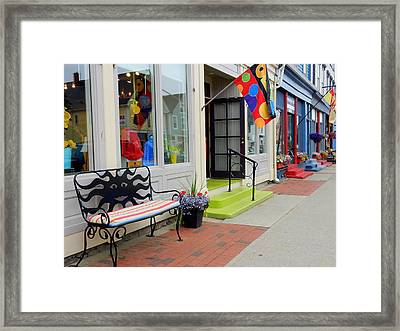 Sit A Spell Framed Print by Betty-Anne McDonald
