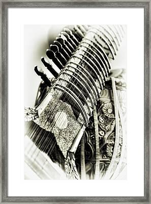 Sitar And Tabla Framed Print