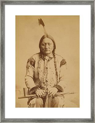 Sitting Bull 1831-1890, Lakota Sioux Framed Print by Everett