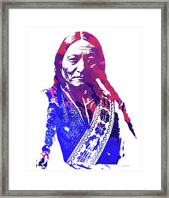 Sitting Bull Framed Print by Greg Joens