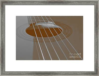 Six Guitar Strings Framed Print
