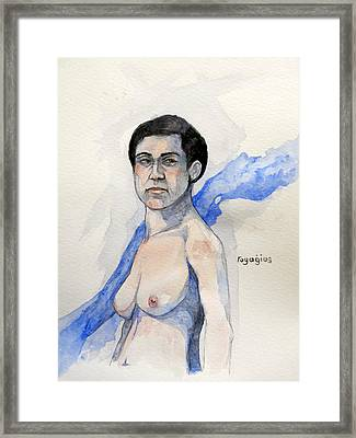Framed Print featuring the painting Sketch For Gabrielle by Ray Agius