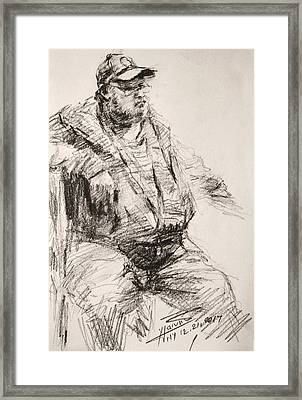 Sketch Man 20 Framed Print