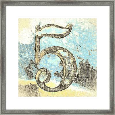 Sketchy Five Drawing Framed Print by Carol Leigh