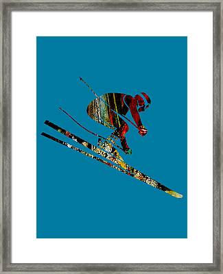 Skiing Collection Framed Print