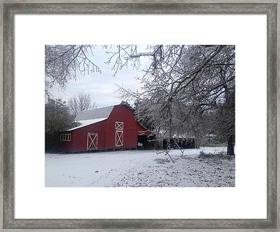 Skip Kelly's Barn Framed Print