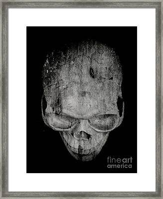 Skull Framed Print by Edward Fielding