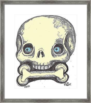 Skullnbone Framed Print