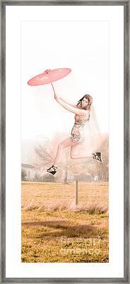 Sky Dance Framed Print
