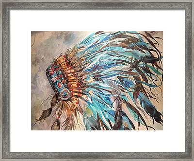 Sky Feather Framed Print