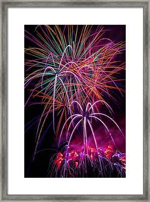 Sky Full Of Fireworks Framed Print