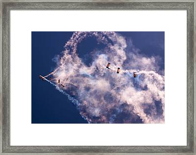 Sky Surfing Framed Print by Angel  Tarantella