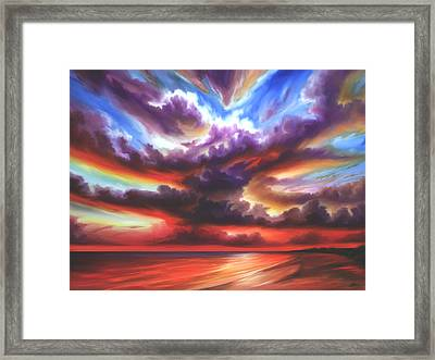 Framed Print featuring the painting Skyburst by James Christopher Hill