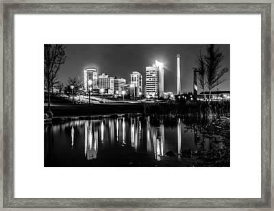 Skyline Of Birmingham Alabama From Railroad Park Framed Print by Alex Grichenko