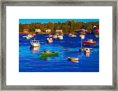 Sleeping Boats II Framed Print