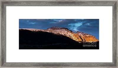 Sleeping Indian At Sunset Framed Print