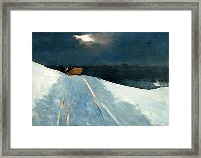 Framed Print featuring the painting Sleigh Ride by Winslow Homer