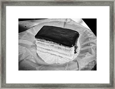 slice of Boston cream pie USA Framed Print