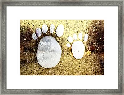 Small Feet And Big Feet 22 Framed Print by Jean Francois Gil