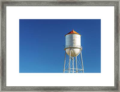 Small Town Water Tower Framed Print