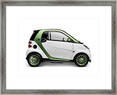 Smart Fortwo Electric Drive Framed Print by Oleksiy Maksymenko