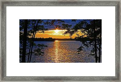 Smith Mountain Lake Summer Sunet Framed Print