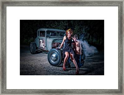Smoke Framed Print by Jerry Golab