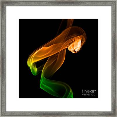 smoke XIV Framed Print