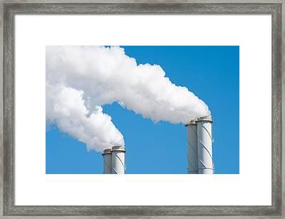 Smoking Chimneys Framed Print by Hans Engbers