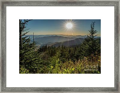 Smoky Mountain View Framed Print