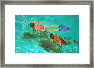 Snorkelers  Framed Print by William Ireland