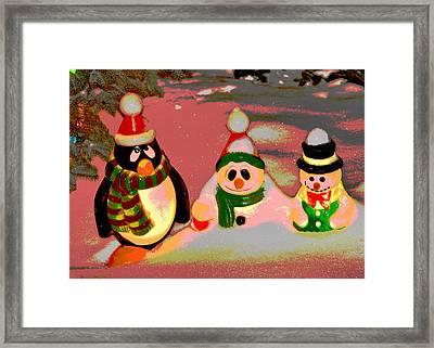 Snow Buddies Framed Print by Robert Joseph
