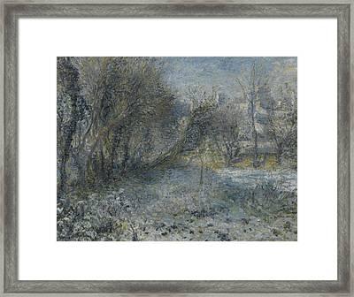 Snow Covered Landscape Framed Print