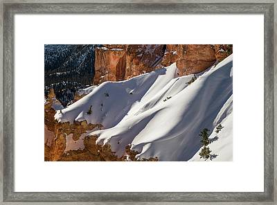 Snow Drift Framed Print by Joseph Smith