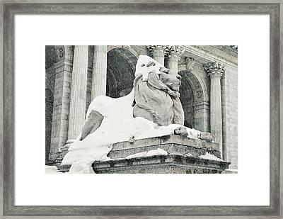 Snow Has Fallen Framed Print by JAMART Photography