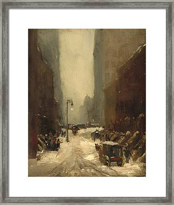 Snow In New York Framed Print by Mountain Dreams