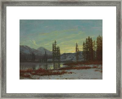 Snow In The Rockies Framed Print