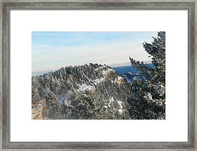 Snow In The Sandias Framed Print by Jeff Swan