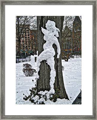 Framed Print featuring the photograph Snow Lady by Joan Reese