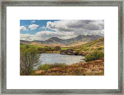 Framed Print featuring the photograph Snowdon Horseshoe by Adrian Evans