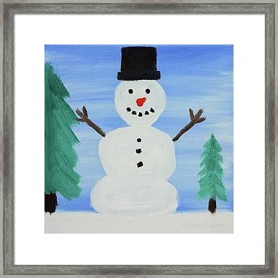 Snowman Framed Print by Anthony LaRocca