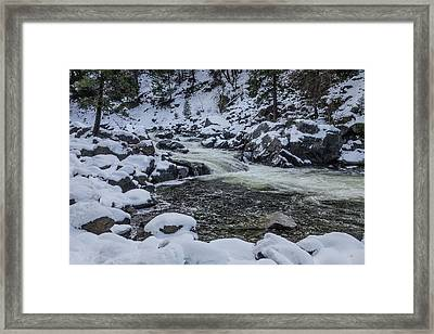 Snowy Merced River Framed Print by Garry Gay