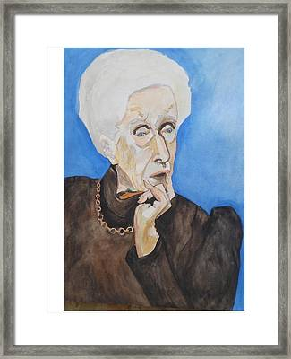Framed Print featuring the painting So Curious by Esther Newman-Cohen