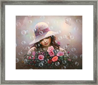 Soap Bubble Girl - Rose Sharon Of Song Framed Print