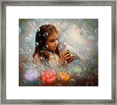 Soap Bubble Girl Framed Print