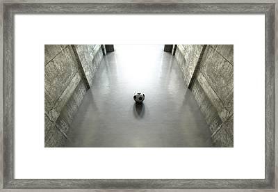 Soccer Ball Sports Stadium Tunnel Framed Print