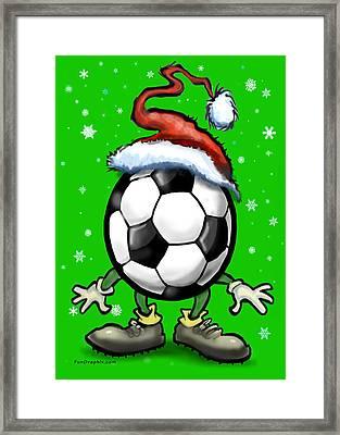 Soccer Christmas Framed Print by Kevin Middleton