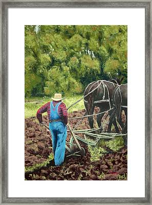 Sod Buster Framed Print by Carl Capps