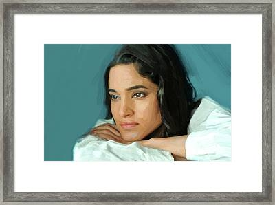Sofia Boutella Print Framed Print by Best Actors
